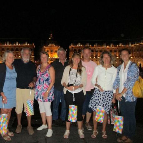 Visite nocturne de Bordeaux pour séminaire